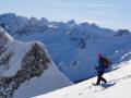 Geführtes Schneeschuhwandern, Allgäu, Oberstdorf, Bergführer, Alpine Zeiten, Schneeschuhwoche