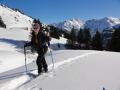 Geführtes Schneeschuhwandern, Allgäu, Oberstdorf, Bergführer, Alpine Zeiten, Schneeschuhwochenende