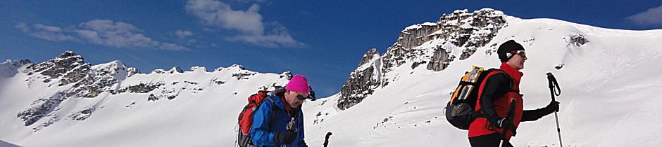 Geführtes Schneeschuhwandern, Alpinschule, Bergführer, Allgäu, Oberstdorf, Alpine Zeiten 12